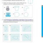 grade six 6 symmetry worksheets c
