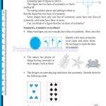grade six 6 symmetry worksheets f