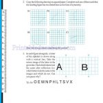 grade six 6 symmetry worksheets l
