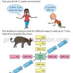 math capacity story worksheet for grade four a