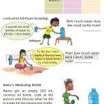 math capacity story worksheet for grade four g
