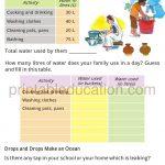 math capacity story worksheet for grade four k