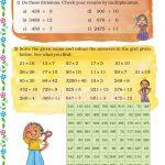 zGrade five 5 division Multiplication worksheet h